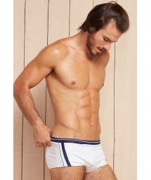 White and navy blue two-tone sunga swimming trunks - HERCULES