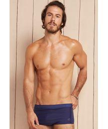 Navy blue dual fabric sunga swimming trunks - INFINITE