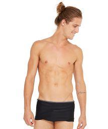 Black swim trunks with bicolor stripes - LIL PRETO