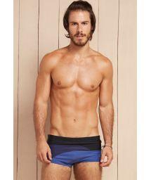 Men`s swimming boxer shorts tricolour black/blue - MYLTA