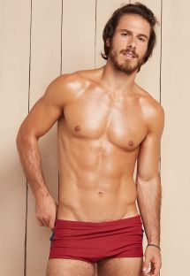 Mens red boxer briefs with side detail - REALEZA