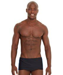Black swim trunks wit tricolor side stripes - SKATE PRETO