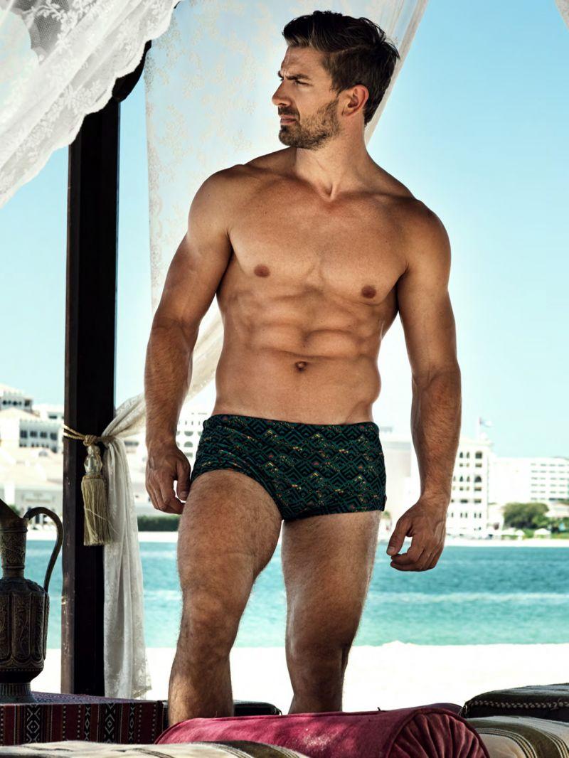 Man swim boxer - geometric green - BODYSHOW SUNGA VERDE