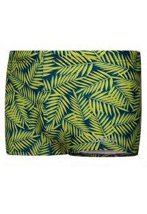 Schwimm-Boxershorts mit gelbem Blattprint - SUNGA BOXER SPORT AMARELO