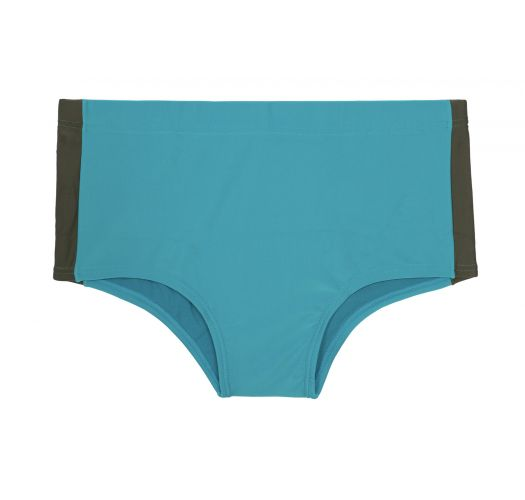 Men`s blue boxer swim shorts with contrasting side panels - SUNGA LUCIO