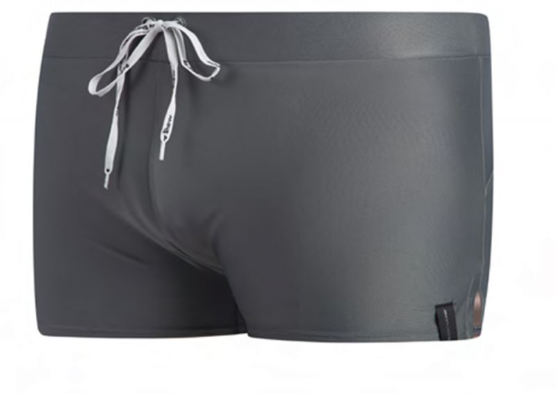 Man swim boxer with a tie - grey - SUNGA SHORTS CINZA