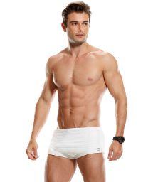 Sunga swimming trunks, plain white with logo - LENÇOIS MARANHENSES