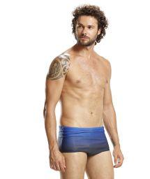 Graded blue swim trunks - NAVY SUNSET