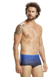 Graded blue swim trunks - NAVY SUNSET