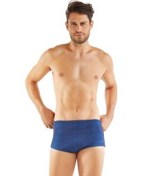 Geometric blue man swim boxer - SUNGA AZUL MARINHO
