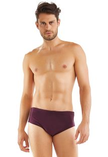 Plum colored men's boxer - SUNGA ROXO LISO