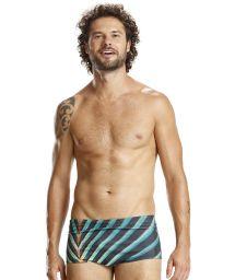 Green printed swim trunks - TROPIC LISTROS