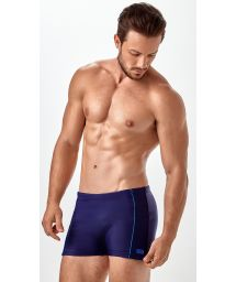 Men`s navy blue swimming boxer trunks - BOXER FRISOS LATERAIS