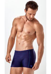Мужские плавательные плавки-шорты темно-синего цвета - BOXER FRISOS LATERAIS