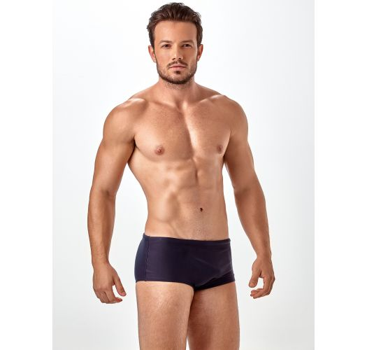 Plain black men`s sunga swimming trunks - SUNGA LISA