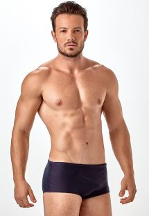Plain black men`s sunga swimming trunks - SUNGA LISA