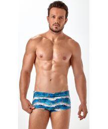 Brasiliansk badbyxa för män med marint mönster - SUNGA SUBLIMAÇAO