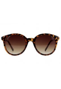 Brown/gold tortoiseshell frame sunglasses - ANTONA