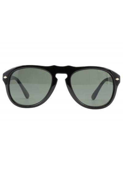 Svarta solglasögon med glänsande guldfärgade nitar - AYLAN NOIR