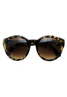 Solglasögon med beige sköldpaddsskals färgade bågar, UV 3 - ELOÏSE