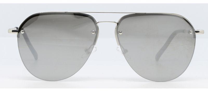 Солнцезащитные очки«капельки» в серебристой оправе - MAJA ARGENT