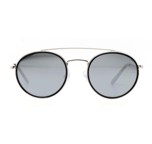 Runda silver metall solglasögon - MARGIT ARGENT