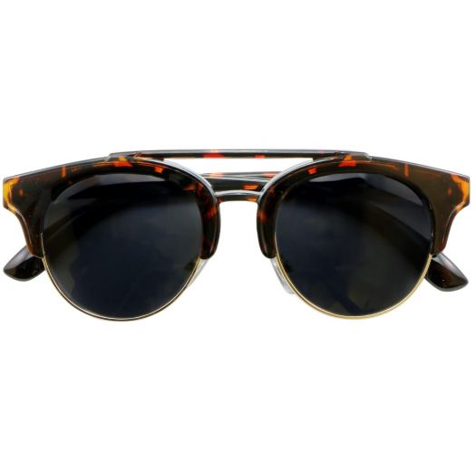 Tortoiseshell frame sunglasses UV3 lenses - OLIVIA