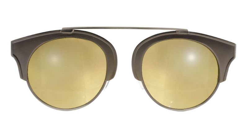 Bronze sunglasses with mirrored lens - ROSA BRONZE
