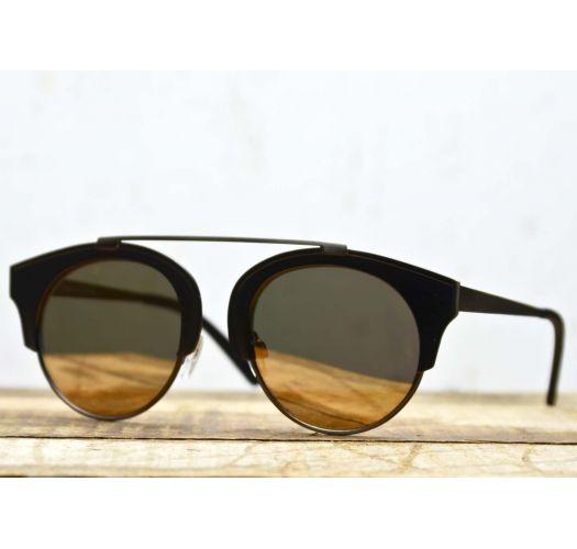 Bronze sunglasses with mirrored lens - ROSA BRONZE
