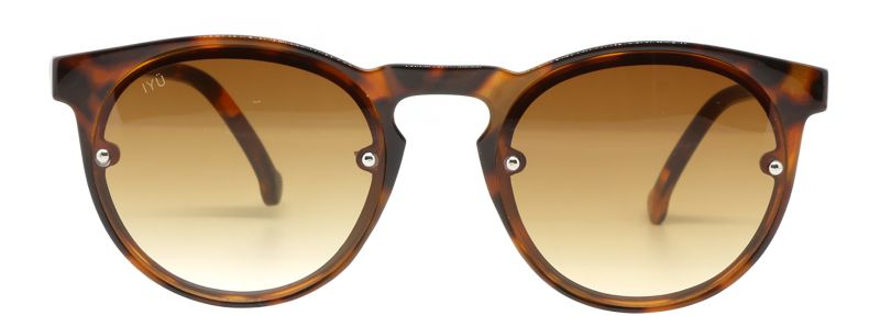 Brown sunglasses with silver rivets - RUTH ECAILLES MARRON