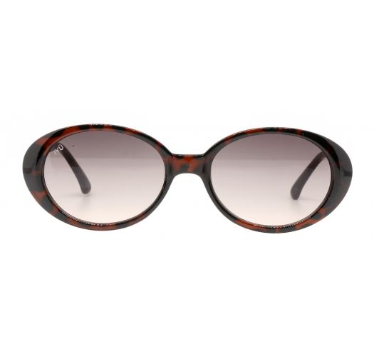 Ovale, brune vintage-solbriller - ULRIKA ECAILLES MARRON