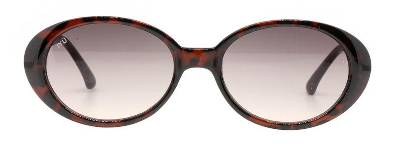 Винтажные солнечные очки коричневого цвета со стёклами овальной формы - ULRIKA ECAILLES MARRON