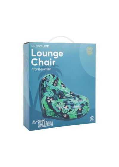 Green foliage inflatable chair - INFLATABLE LOUNGE CHAIR MONTEVERDE