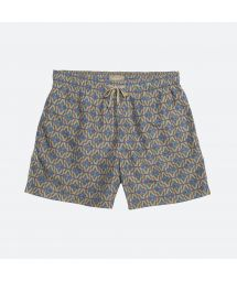 Multicoloured ethnic-print swimming trunks with pockets - DANAKIL
