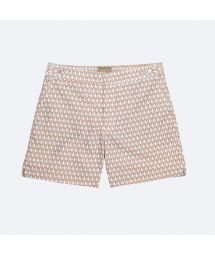 White/peach two-tone printed swimming trunks - NDALAMA