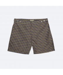 Wax-type ethnic-print swimming trunks - OROMO