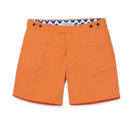 45/5000 Pantaloncini da spiaggia arancio  con tasche e taglio aderente - BLOCK TAILORED LONG ORANGE