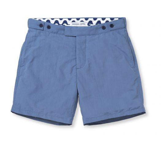 e1a17a033d0 Swim Shorts Slim Fit Mens` Shorts In Blue - Block Tailored Short Slate
