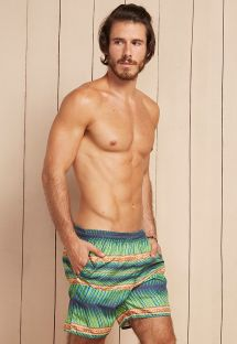 Palm leaf printed swimming shorts - PATAGONIA CAETE