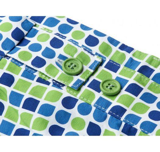 Pantaloncini da spiaggia stampati verdi e blu - CACAU TAILORED SHORT GREEN