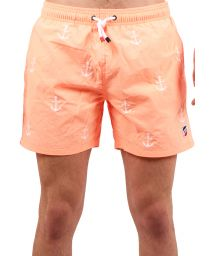Coral beach shorts with anchors - SHORT BRODERIE CORAIL ANCRE