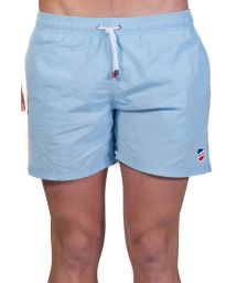 Plain light blue beach shorts with pockets - SHORT CLASSIQUE CIEL