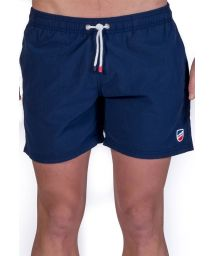 Plain navy blue beach shorts with pockets - SHORT CLASSIQUE MARINE