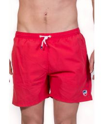 Plain red beach shorts with pockets - SHORT CLASSIQUE ROUGE