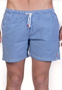 Dark blue / white stripped beach shorts - SHORT RAYURES MARINE/BLANC