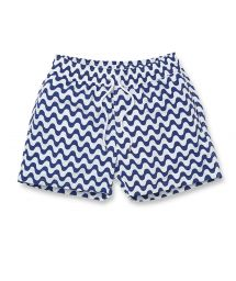 White & navy blue beach shorts - COPACABANA SPORT NAVY BLUE