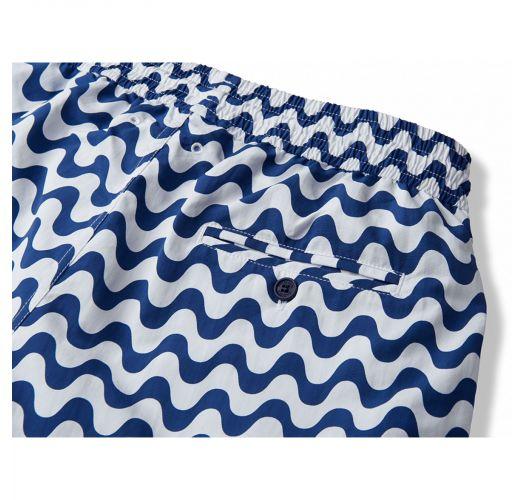 White & navy blue beach shorts - COPACABANA SPORT NAVY BLUE