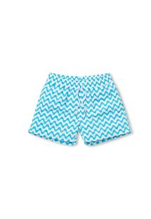 Sky blue/white wavy print swimming shorts - COPACABANA SPORT AGUA