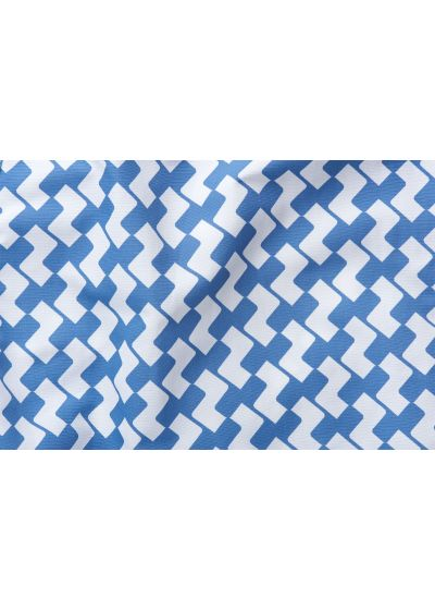 Blå/vita badshorts med geometriskt tryck - LEME SPORT SLATE BLUE