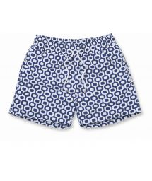 White & marine blue beach shorts - IPANEMA SPORT NAVY BLUE